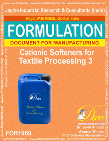 Cationic softener compound for Textile 3 (FOR 1969)