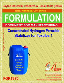 Concentrated hydrogen peroxide textile stabilizer 1 (FOR 1970)