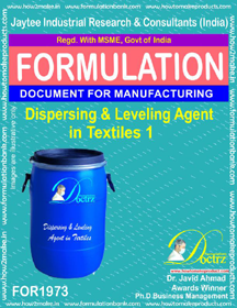 Dispersing and lavelling agent formula for textiles 1 (FOR 1973)