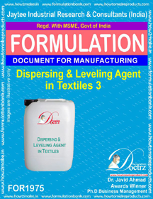 Dispersing and laveling agent formula for textiles 3 (FOR 1975)