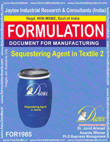 Sequestering agent in textile industry formula II (FOR1985)