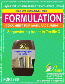 Sequestering agent in textile industry formula III (FOR1986)