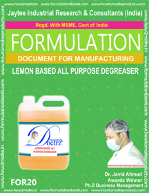 Lemon Based All Purpose Degreaser