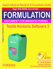 Textile Non-Ionic Softeners 3 (For 2003)