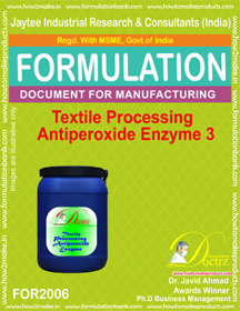 Textile Processing Anti Peroxide Enzymes 3 (For 2006)