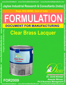 Clear Brass Lacquer Formulation (For2009)