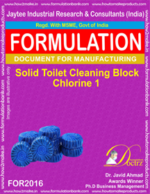 Solid Toilet Cleaning Block Chlorine 1 (For 2016)