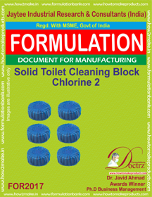 Solid Toilet Cleaning Block Chlorine 2 (For 2017)