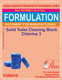 Solid Toilet Cleaning Block Chlorine 3 (For 2018)