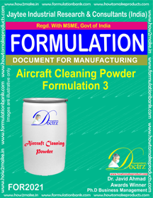 Aircraft Cleaning Powder Formulation 3 (for2021)