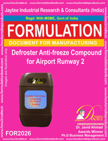 Defroster Anti-Freeze Compound For Airport Runway 2 ( for2026)
