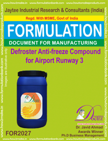Defroster Anti-Freeze Compound For Airport Runway 3 ( for2027)
