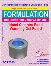 Hotel Caterers Food Warming Gel Fuel 3 (Formula 2033 )