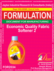 Economic Quality Fabric Softener 2 (Formula 2034)