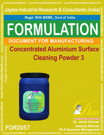 Concentrated Aluminium Cleaning Powder 3 (Formula 2057)