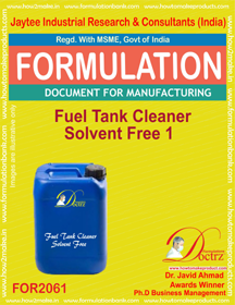 Fuel Tank Cleaner Solvent Free 1 (Formula 2061)