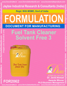 Fuel Tank Cleaner Solvent Free 3 (Formula 2062)