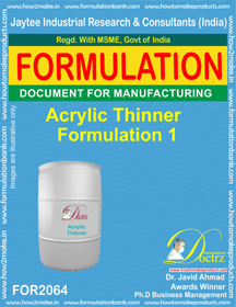 Acrylic Thinner Formulation 1 (Formula 2064)