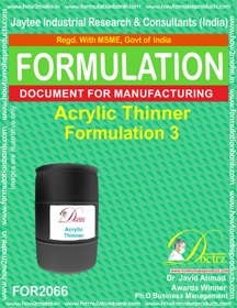 Acrylic Thinner Formulation 3 (Formula 2066)