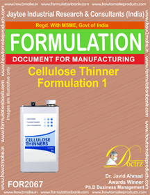 Cellulose Thinner Formulation 1 (Formula 2067)