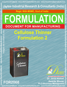 Cellulose Thinner Formulation 2 (Formula 2068)