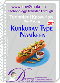 Technical Know-How Report for Kurkure Type Namkeen (TNHR207)