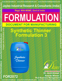 Synthetic Thinner Formulation 3 (Formula 2072)