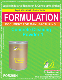 Concrete Cleaning Powder 1 (Formula 2084)