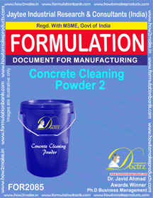 Concrete Cleaning Powder 2 (Formula 2085)