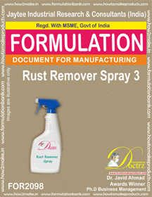2098 Rust Remover Spray 3 (Formula 2098)