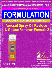 Aerosol Oil Residue & Grease Remover Formula-2 (FOR 2113)