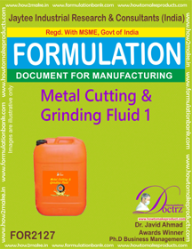 Metal Cutting and Griding Fluid chemicals Fomula -1 (FOR2127)
