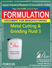 Metal Cutting and Griding Fluid chemicals Fomula -3 (FOR2129)