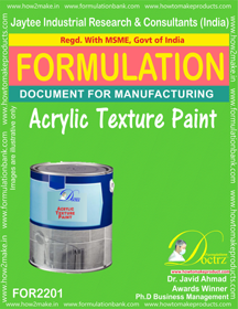 Acrylic Texture Paint formulation (FOR 2201)