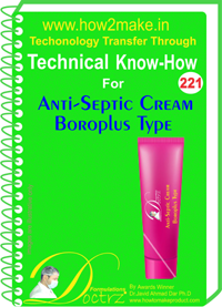Technical Know-How Report for Anti-Cepti Cream Boroplus Type (TN