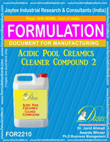 Acidic Pool Ceramics cleaning compound 1 (FOR 2210)