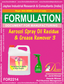 Aerosol Spray Oil Residue and Grease Remover3 (FOR 2214)