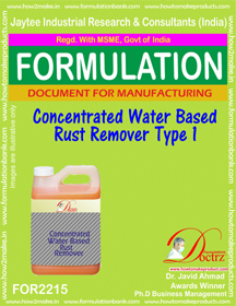 Concentrated Water Base Rust Remover 1 formula (FOR 2215)