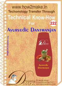 Technical Know-How Report for Ayurvedic Dantmanjan (TNHR222)