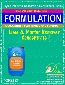 Lime and Mortar Residue Remover Chemical Formula1(FOR 2221)
