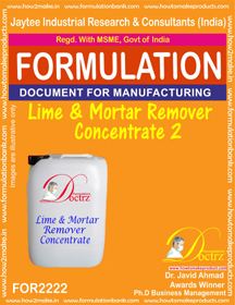 Lime and Mortar Residue Remover Chemical Formula1(FOR 2222)
