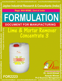 After-Construction Lime and Mortar Residue Remover 3(FOR 2223)