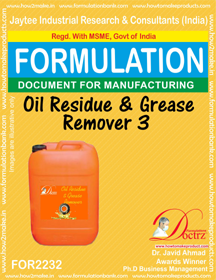 Formula of Oil Residue & Grease Remover 3(FOR 2232)