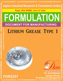 Lithium Grease Manufacturing Formula-1 (FOR 2237)