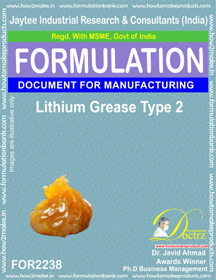 Lithium Grease Manufacturing Formula-2 (FOR 2238)