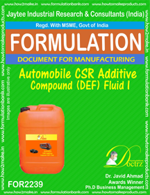 Automobile CSR Additive compound DEF Fluid -I(FOR 2239)