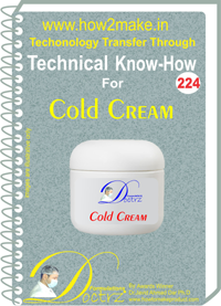 Technical Know-How Report for Cold Cream (TNHR224)