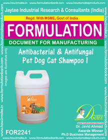 Antibacterial and anti-fungal Pet Dog Cat Shampoo 1(FOR 2241 )