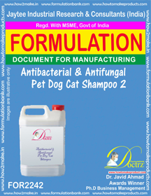 Antibacterial and anti-fungal Pet Dog Cat Shampoo 2(FOR 2242 )