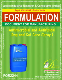 Antimicrobial and anti-fungal Pet Dog Cat Spray 1 (FOR 2244 )